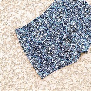 WHBM Moroccan Tile Paisley Printed Cotton Shorts